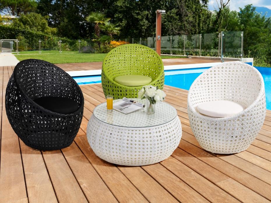 Salon de jardin resine blanche - Jardin piscine et Cabane