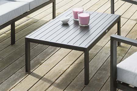 Table salon de jardin aluminium hesperide - Jardin piscine et Cabane