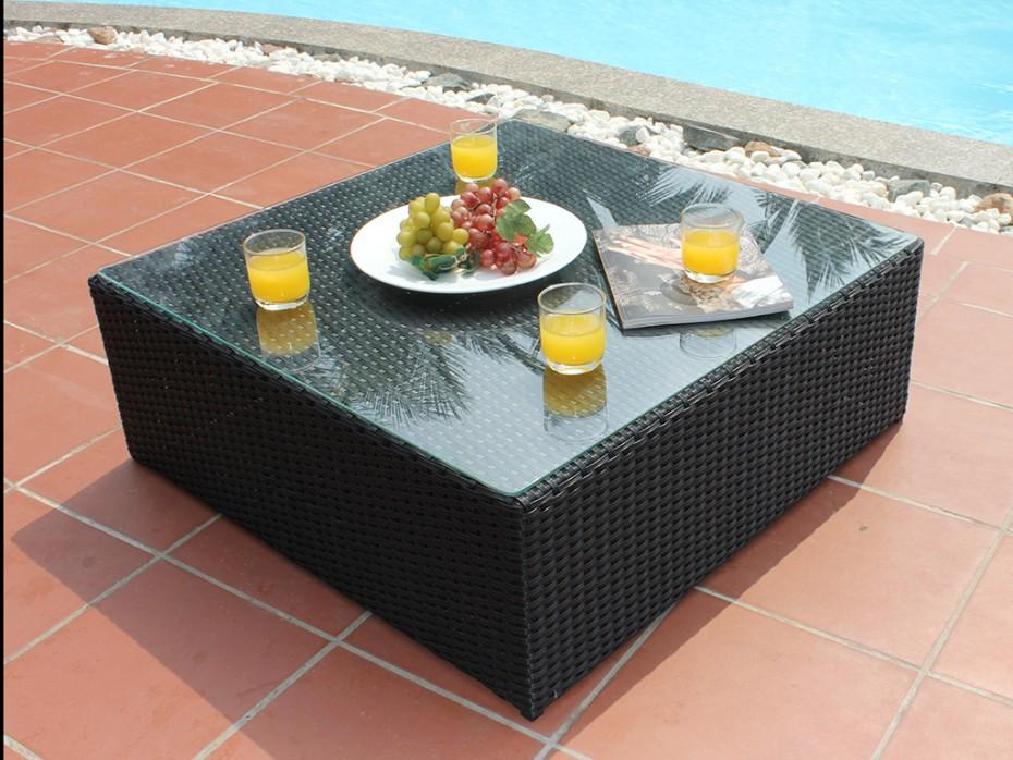 Salon de jardin table basse coffre - Jardin piscine et Cabane