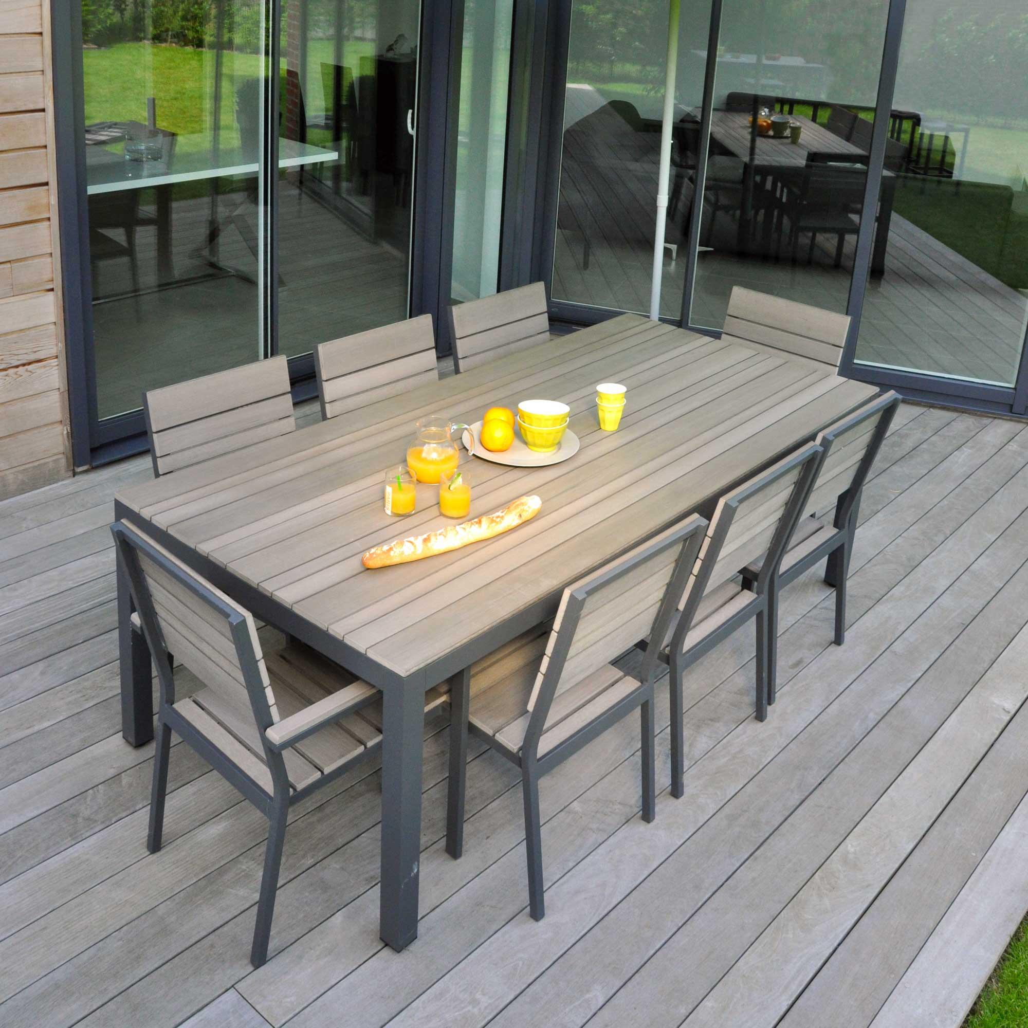 Table de salon de jardin haute - Jardin piscine et Cabane