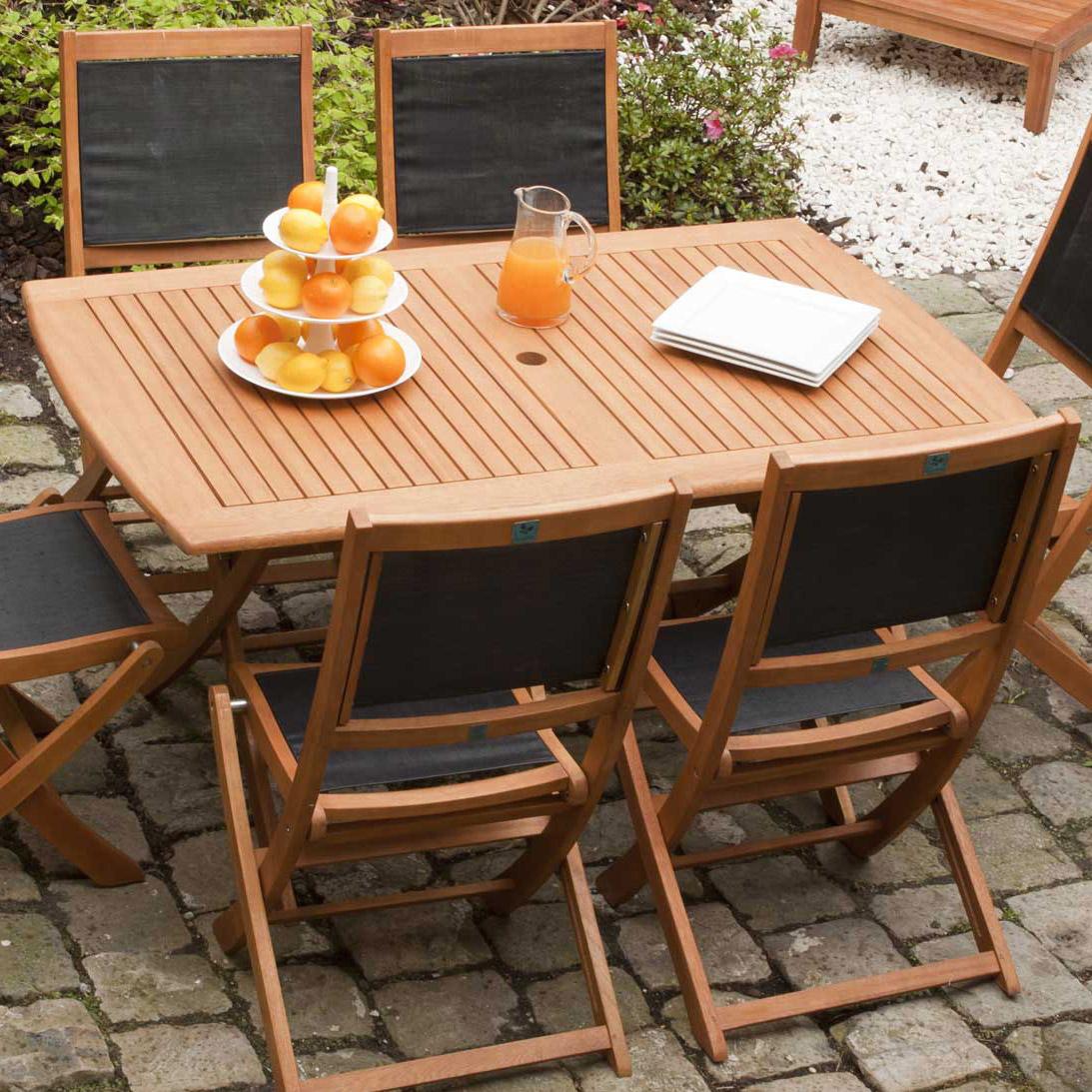 Salon de jardin bois table pliante - Jardin piscine et Cabane
