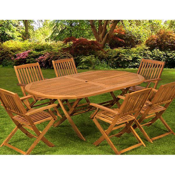 salon de jardin bois casa jardin piscine et cabane. Black Bedroom Furniture Sets. Home Design Ideas
