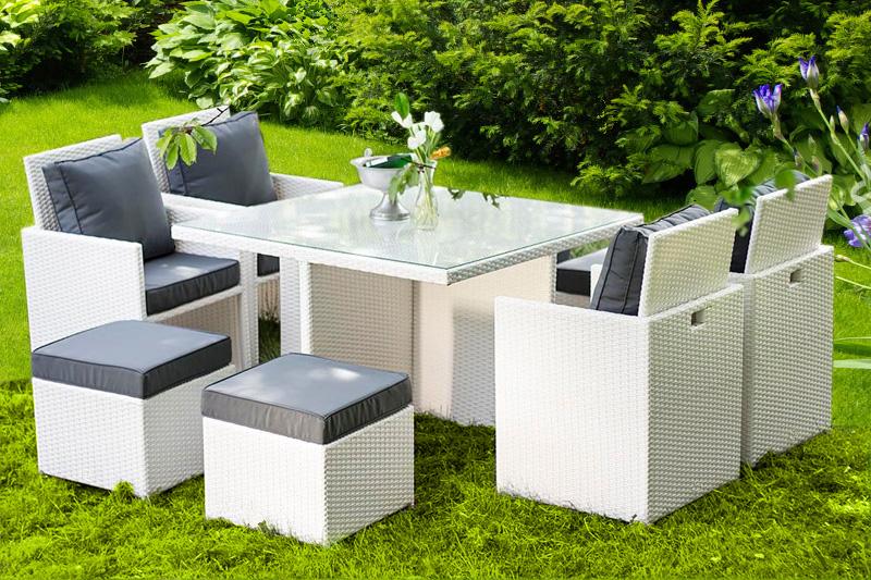 Awesome Salon De Jardin Blanc En Resine Tressee Ideas - House Design ...