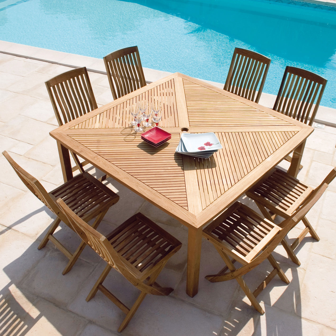 Table pour jardin - Jardin piscine et Cabane
