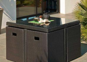 salon de jardin tresse anthracite jardin piscine et cabane. Black Bedroom Furniture Sets. Home Design Ideas