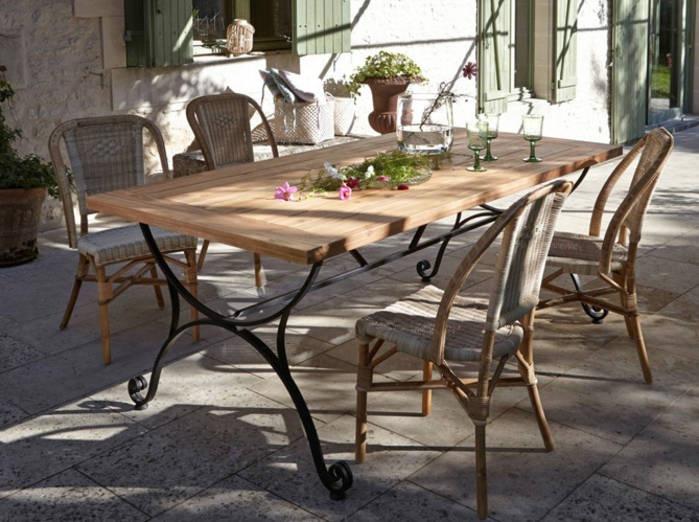Table salon de jardin fer forg jardin piscine et cabane - Table fer forge jardin ...