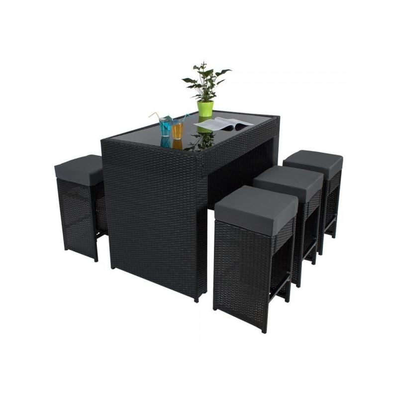 Table de salon de jardin haute