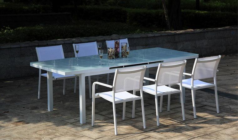 Table De Jardin Aluminium Et Composite. Amazing Salon De Jardin ...
