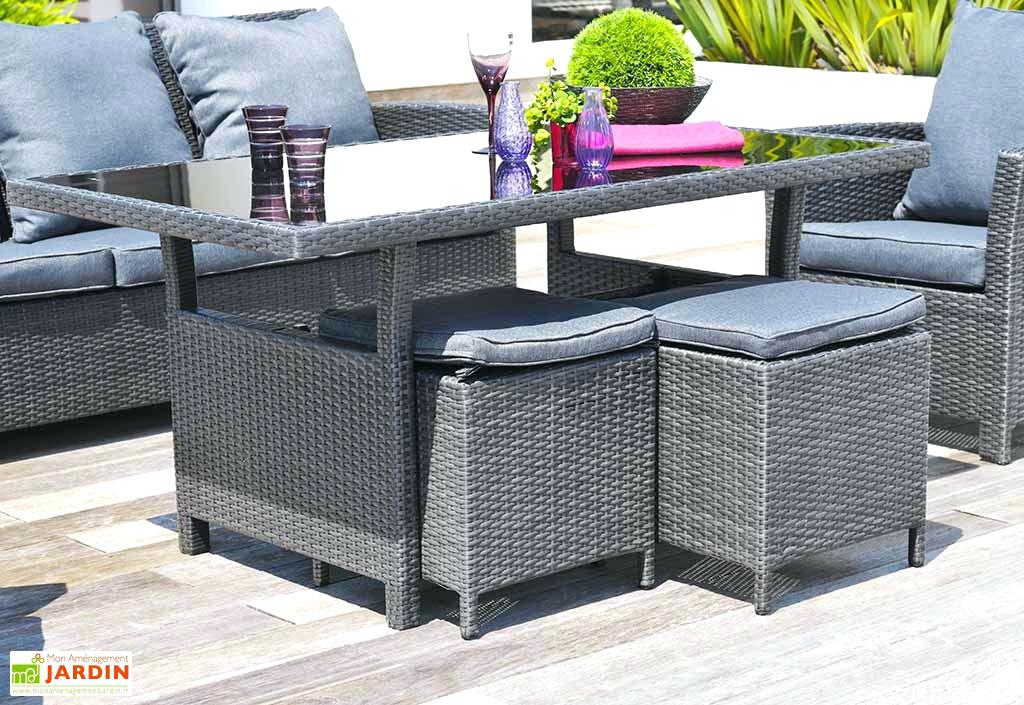Salon de jardin riverside wicker line 8 places - Jardin piscine et ...