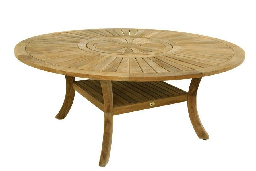 Salon de jardin table ronde bois