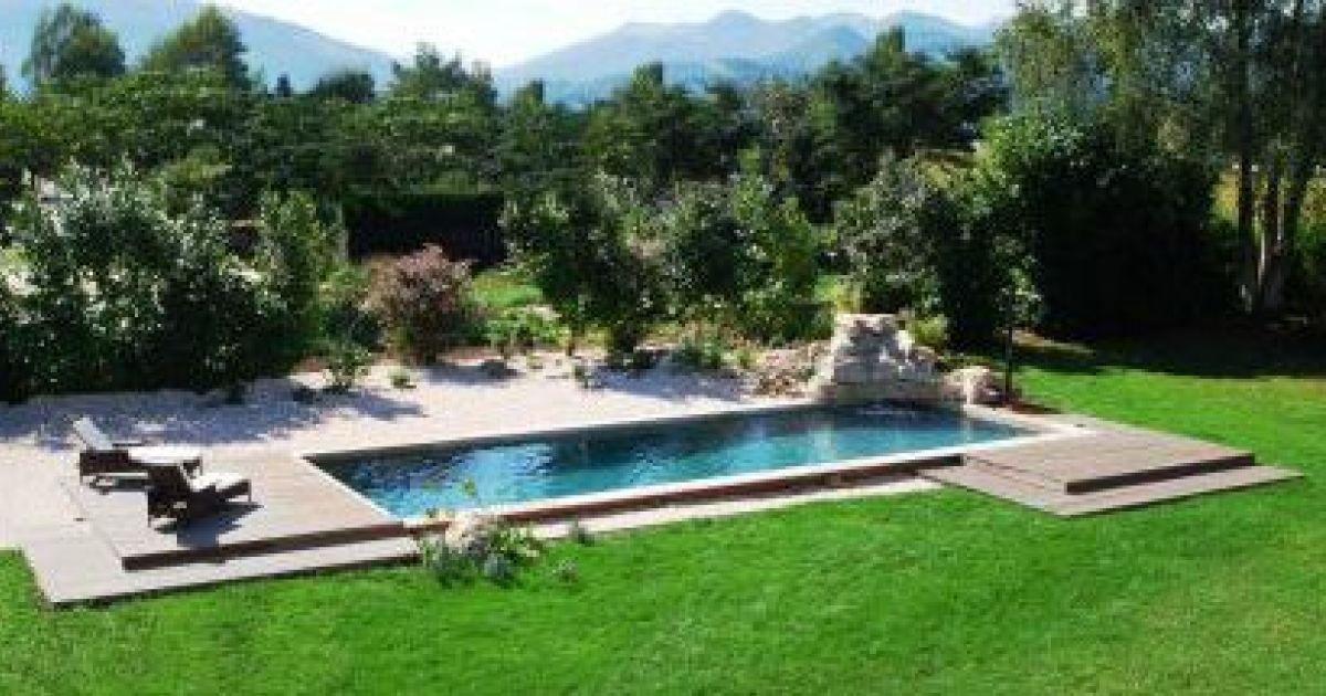 Amenagement jardin autour piscine bois - Jardin piscine et Cabane