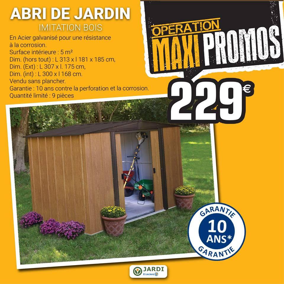 abri de jardin bois leclerc Abri de jardin leclerc 229 euros