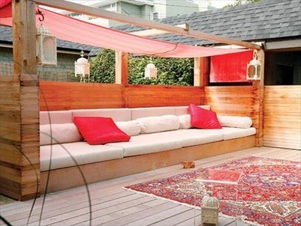 Salon de jardin en palette materiel